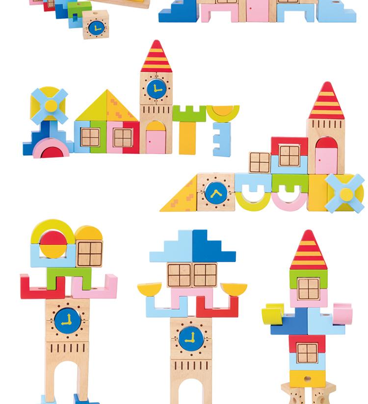 搭积木图片城堡房子-积木搭城堡简单图片_幼儿积木最