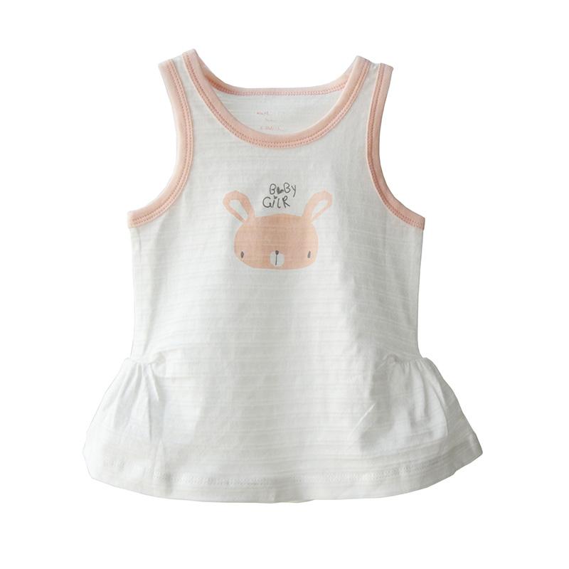 夏季宝宝背心连衣裙 白