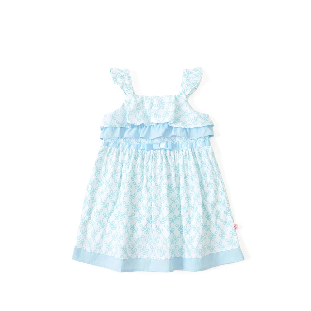 婴儿裙子 夏季新款女宝宝碎花吊带连衣裙 蓝花