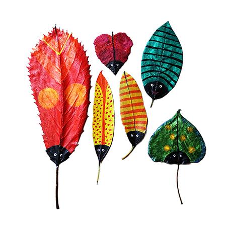 折剪树叶的步骤图解