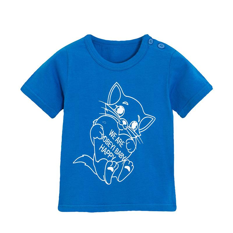 yobeyi优贝宜 儿童短袖t恤卡通92806 蓝猫