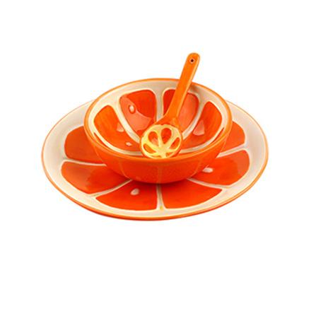 创意手绘水果系列餐具套装 橙子
