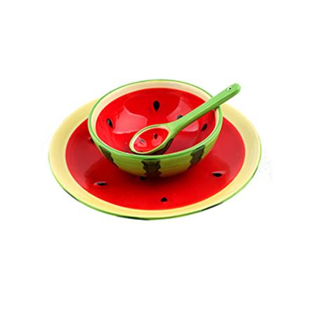 名称: homee创意手绘水果系列餐具套装西瓜 编号: 1070947  服务
