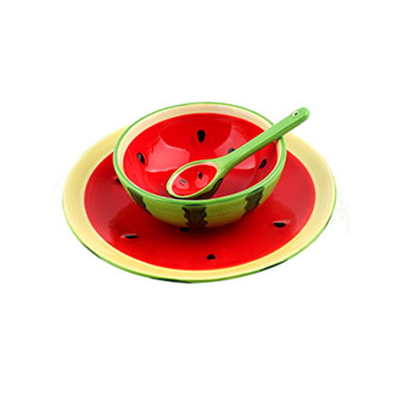 homee创意手绘水果系列餐具套装西瓜