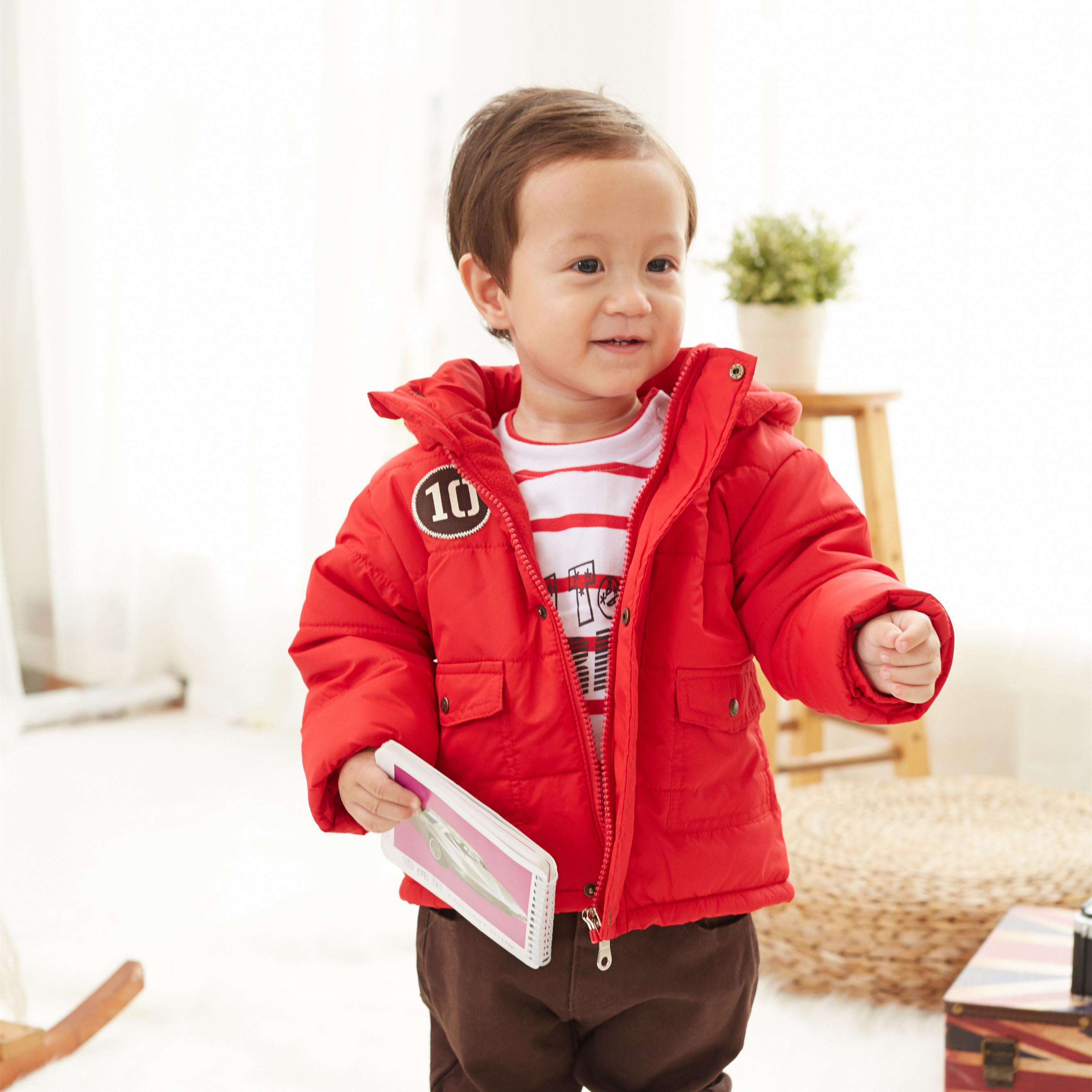 男童冬装加厚棉衣外套