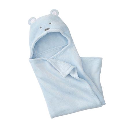婴儿抱毯品牌_minizone 新生儿珊瑚绒动物造型抱被抱毯 蓝【价格 特卖 图片100% ...