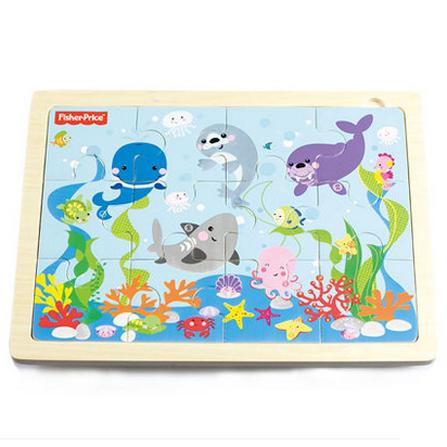 卡通小动物拼图 海洋