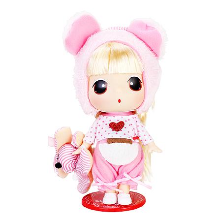 爱亲亲 18cm冬己芭比迷你娃娃女孩公主洋娃娃