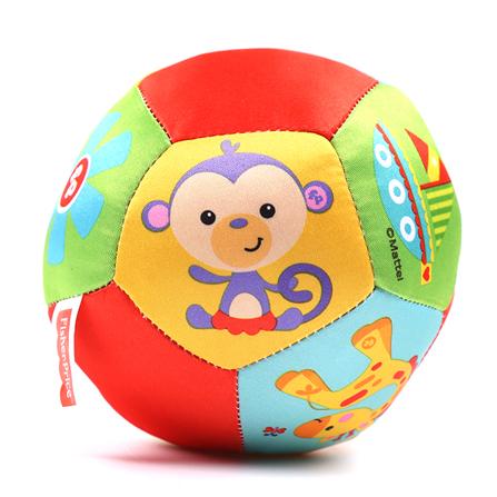 婴儿手抓摇铃球可爱动物认知球 12面彩