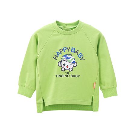 纤丝鸟 Tinsino 儿童新款长袖卫衣迷彩小猴 苹果绿 ...