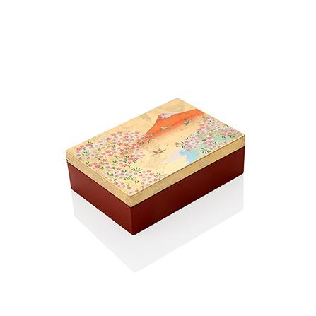 日本进口手绘富士山金箔首饰盒礼盒装