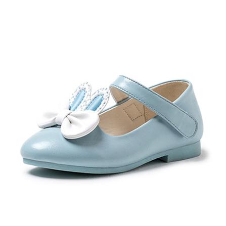 新款儿童皮鞋 女童可爱公主鞋 蓝