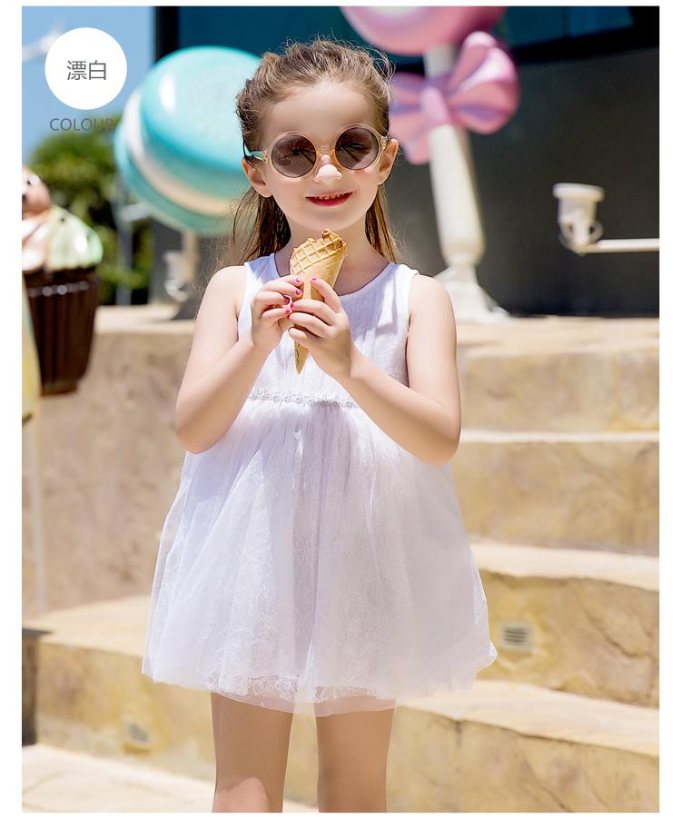 童装公主裙女童裙子女孩2017夏季新款儿童连衣裙女 品牌:巴拉巴拉