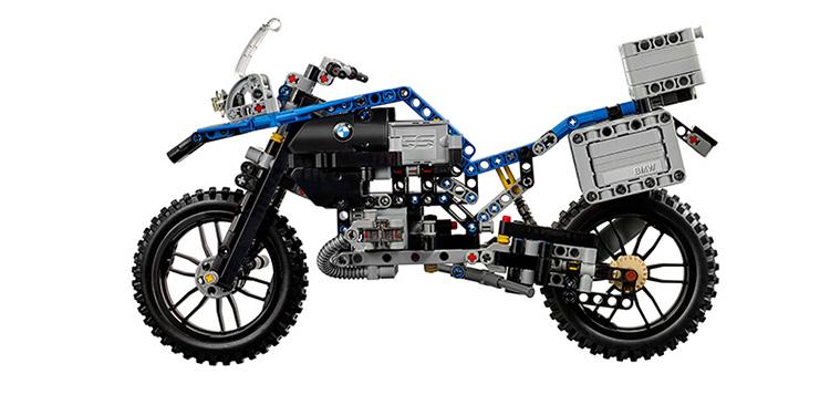 乐高LEGO槽钢科技组系列宝马Adventure摩托车42063图纸机械尺寸图片