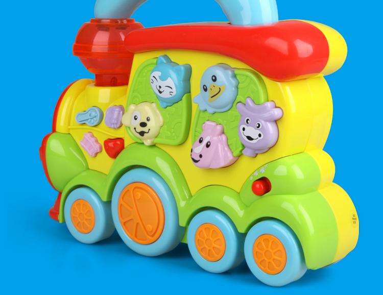 儿童益智启蒙趣味动物小火车玩具