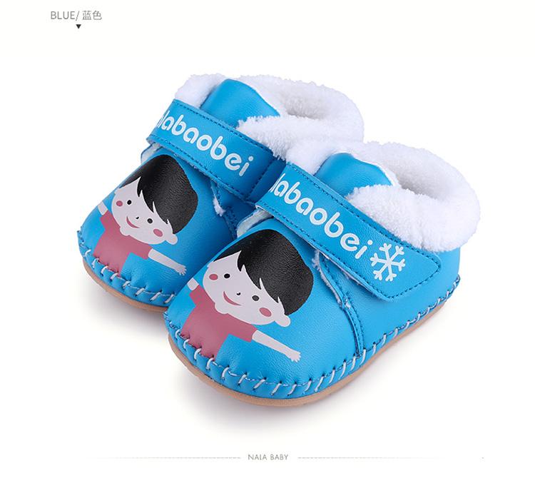 加绒婴儿步前鞋软底宝宝鞋子 男女幼儿鞋手工棉鞋0-1岁