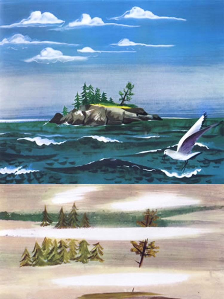 凯迪克金奖获奖绘本-《小岛》