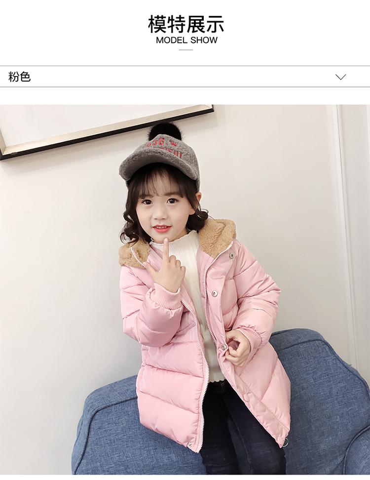 2017冬装新款女童羊羔毛棉衣外套可爱兔耳朵加厚儿童棉服宝宝棉袄