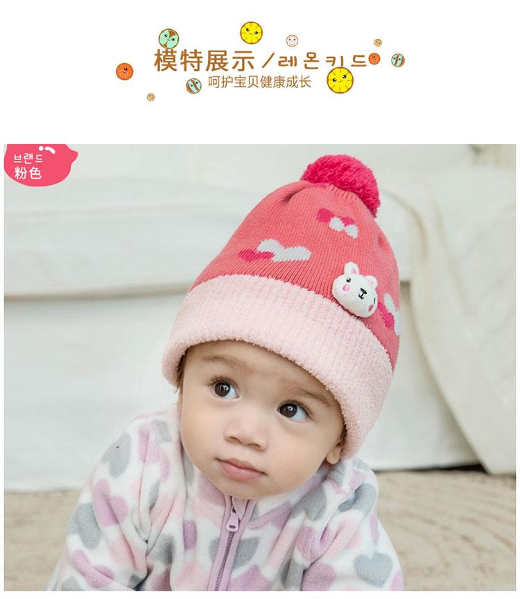 韩版婴儿帽子男宝宝女孩儿童公主小孩秋冬季可爱帽子围脖两用帽潮