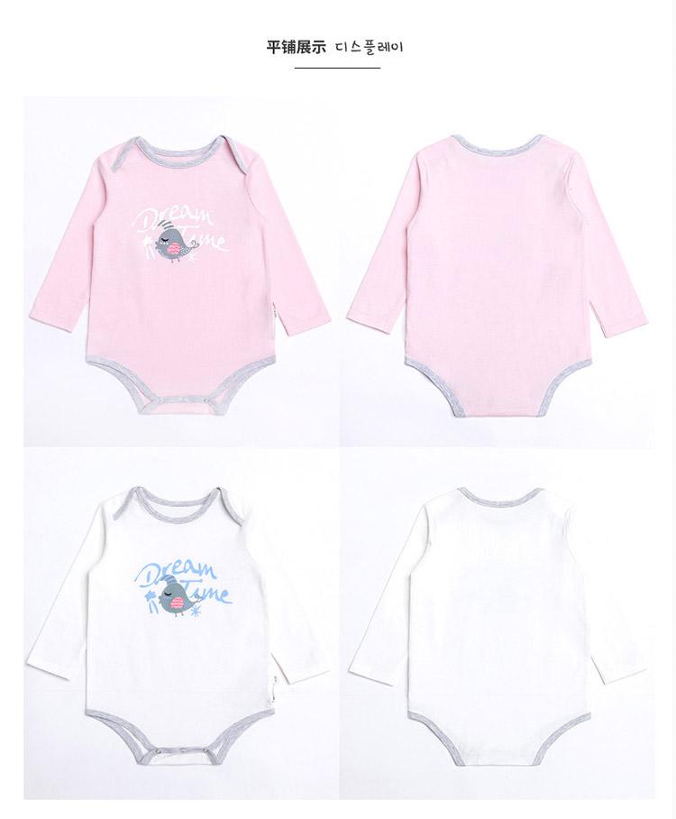 婴儿爬服春装新款纯棉新生儿纯棉连体衣