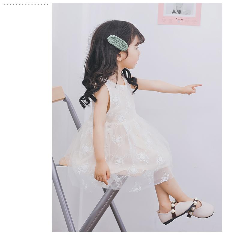 2018 带仙气小公主刺绣碎花蓬蓬连衣裙 超萌超可爱公主连衣裙