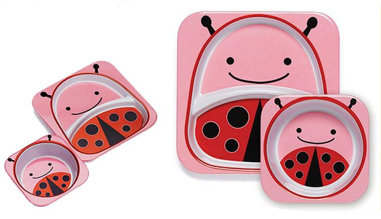 餐具,skip hop这款餐盘可爱童趣的设计足够吸引宝宝
