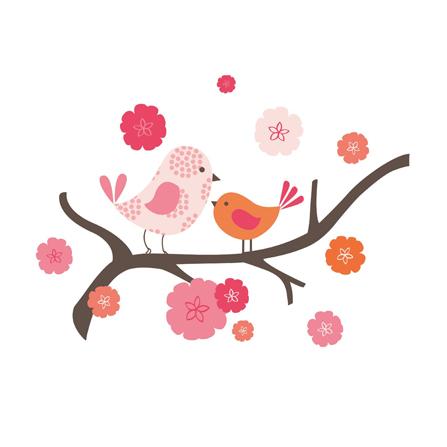 墙贴(春天的小鸟)