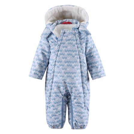 婴儿冬季防水可转换睡袋连衣裤(淡蓝色)