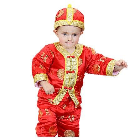 魔法贝贝 冬款 宝宝过年喜庆服婴幼儿唐装冬男一两岁男宝宝冬装套装