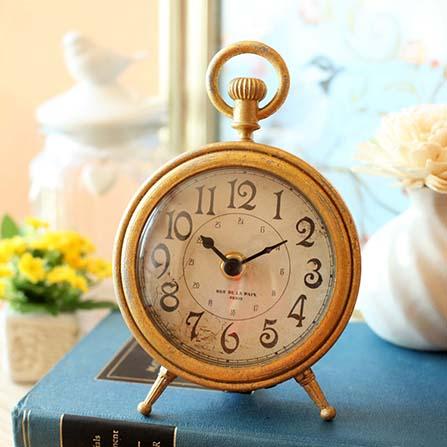 铁艺古典座钟唯美欧式桌钟