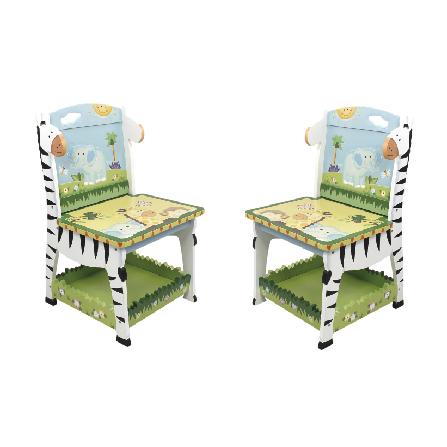 阳光动物园儿童椅两件组 彩