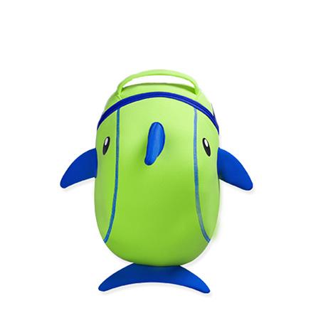 可爱卡通小海豚3d幼儿园儿童书包 儿童双肩背包 绿