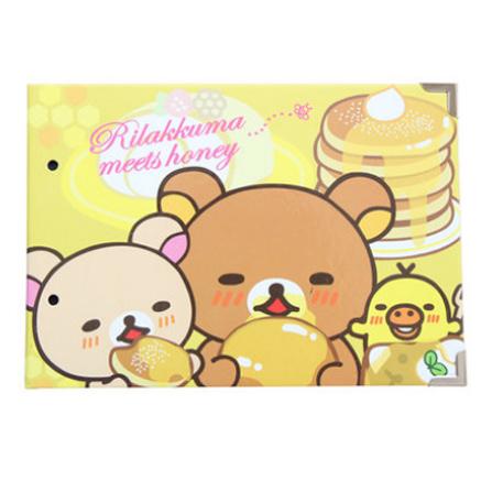 可爱小熊bar diy手工黑卡粘贴式相册 黄