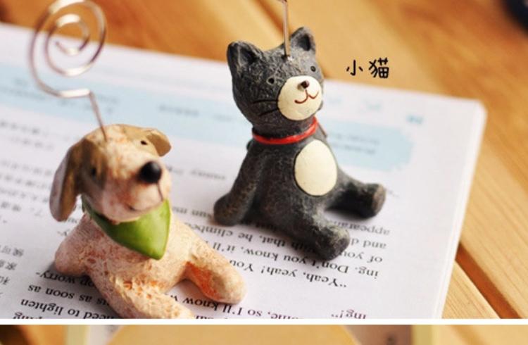 拍立得小动物摆件名片创意便条夹子