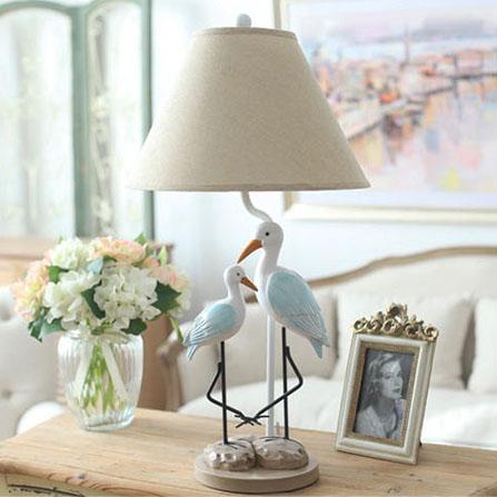 欧式高档水鸟台灯 彩