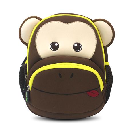 小猴子儿童书包 幼儿园小朋友书包 小朋友背包 超前设计 咖啡