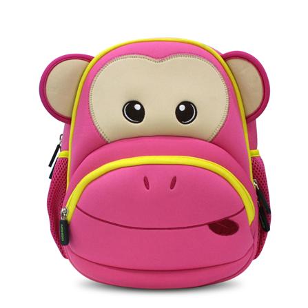 小猴子儿童书包 幼儿园小朋友书包 小朋友背包 超前设计 红