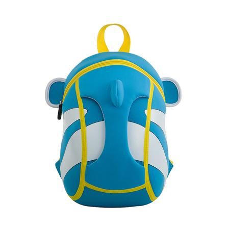 幼儿园儿童书包小丑鱼可爱3d韩版潮包 海洋蓝